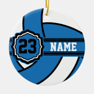 Blue Volleyball | DIY Name and Number Ceramic Ornament