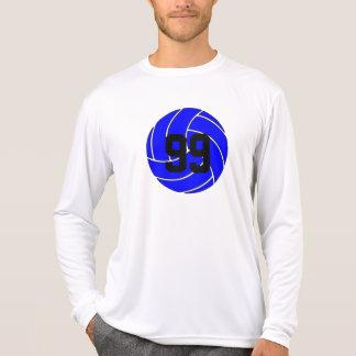 Blue Volleyball Men's Long Sleeve Shirt