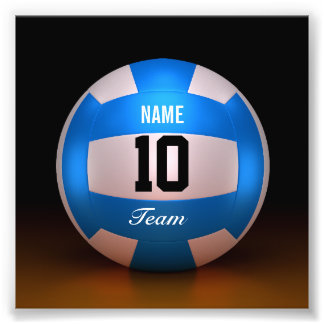 Blue Volleyball Team Photo Print