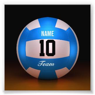 Blue Volleyball Team Photograph