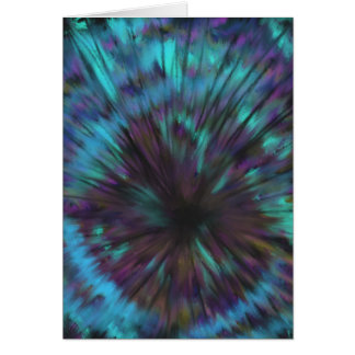 Blue Vortex Optical illusion Abstract Art Design Card