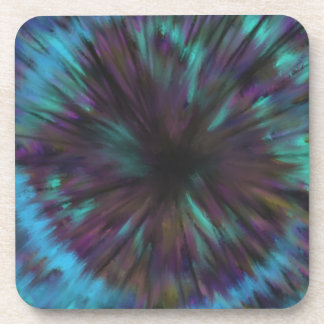 Blue Vortex Optical illusion Abstract Art Design Coaster