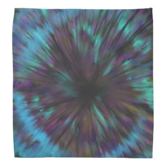 Blue Vortex Optical illusion Abstract Art Design Do-rags