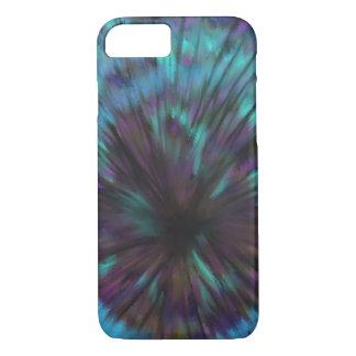 Blue Vortex Optical illusion Abstract Art Design iPhone 8/7 Case