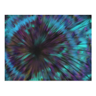Blue Vortex Optical illusion Abstract Art Design Postcard