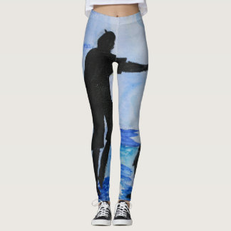 Blue Wall Leggings
