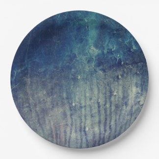 Blue wall paper plate