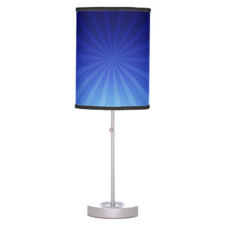 Blue Warp Speed Abstract Table Lamp