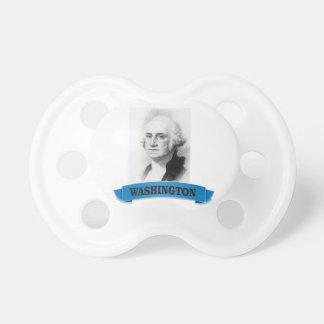 blue washington baby pacifier