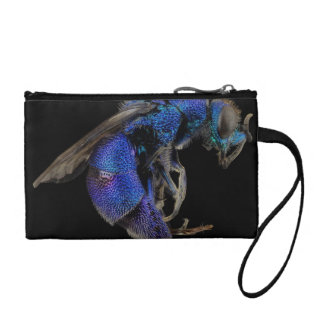 Blue Wasp Coin Purses