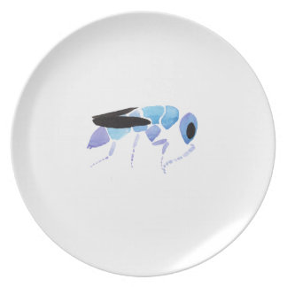 Blue Wasp Dinner Plate