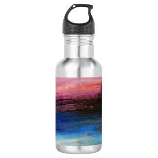 Blue Water Abstract 532 Ml Water Bottle