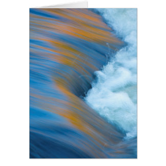 Blue water abstract, Canada Card