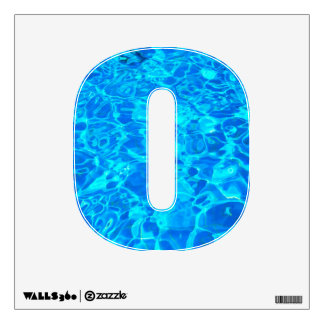 blue water alphabet wall decal