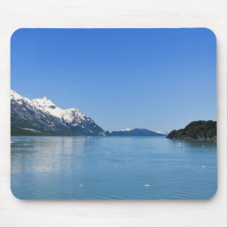 Blue Water and Snow Covered Mountains in Alaska Mouse Pad