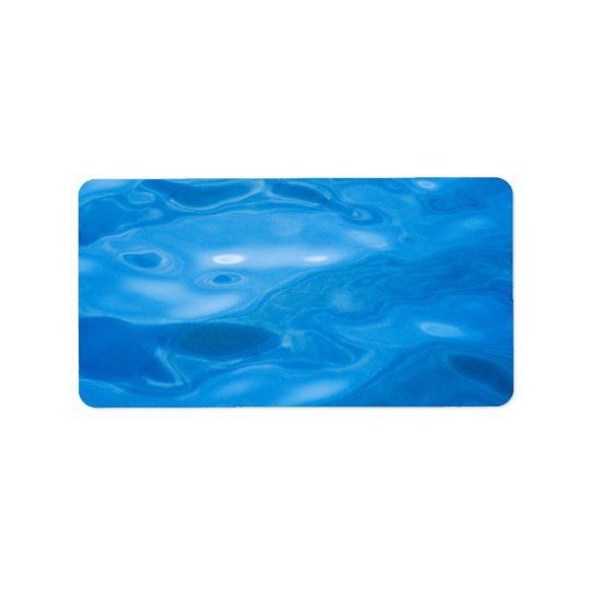 Blue Water Background - Customized Template Label