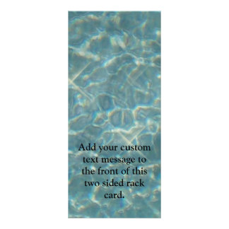 Blue Water Background Rack Card