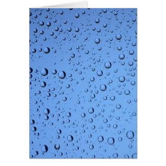 Blue Water Bubbles Card