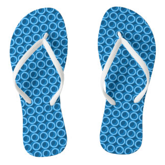 Blue-Water-Bubble's-Mod-Teen-ADULT-Unisex Flip Flops