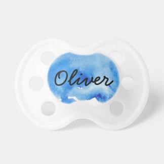 Blue water color binky pacifier