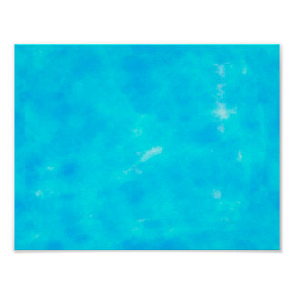 Blue Water Color Poster