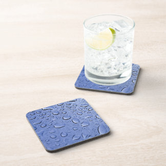 Blue Water Droplets Drink Coasters