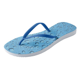 Blue Water Drops Flip Flops