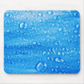 Blue Water Drops Mousepad