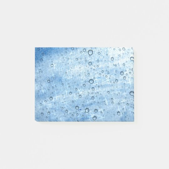 Blue Water Drops Post-it Notes