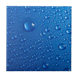 Blue Water Drops Tile