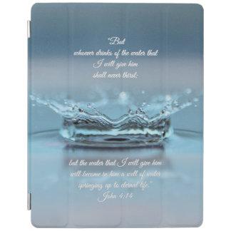 Blue Water Life never thirst Bible Verse John iPad Cover