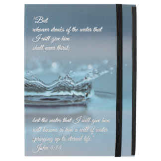"Blue Water Life never thirst Bible Verse John iPad Pro 12.9"" Case"