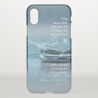 Blue Water Life never thirst Bible Verse John iPhone X Case