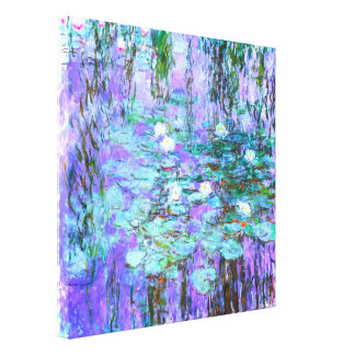 Blue Water Lilies by Claude Monet Canvas Print