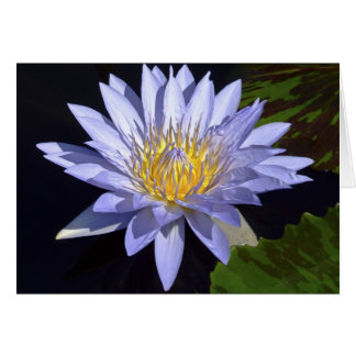Blue Water Lily Card