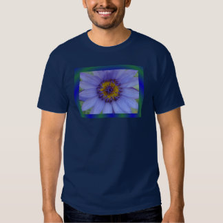 Blue Water Lily Dark Shirt