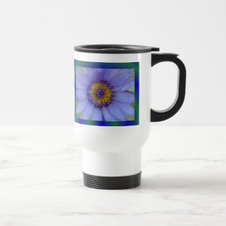 Blue Water Lily Flower 15 Oz Stainless Steel Travel Mug