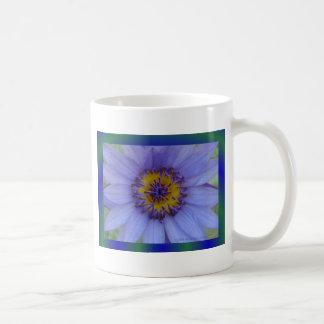 Blue Water Lily Flower Basic White Mug