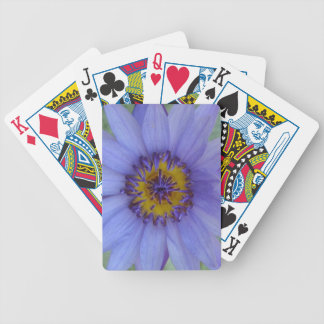 Blue Water Lily Flower Custom Playing Cards