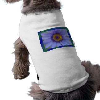 Blue Water Lily Flower Pet Tshirt