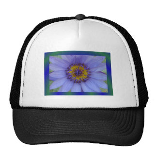 Blue Water Lily Flower Trucker Hat