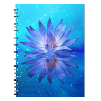 Blue Water Lily Notebook