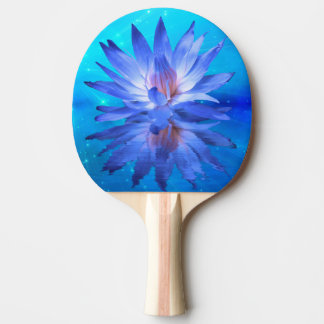 Blue Water Lily Ping Pong Paddle