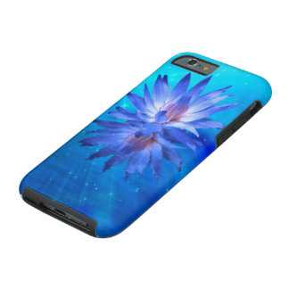 Blue Water Lily Tough iPhone 6 Case