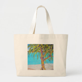 Blue Water Pandanas Large Tote Bag