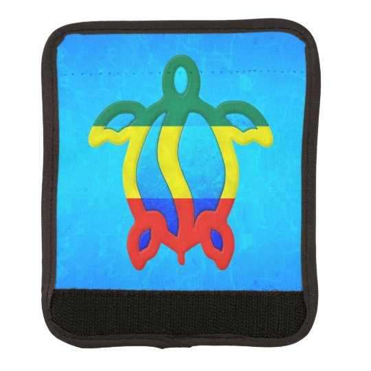 Blue Water Rasta Honu Luggage Handle Wrap