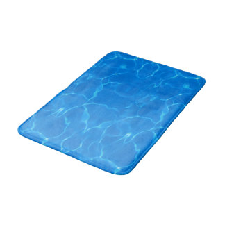 Blue Water Ripples Bathroom Mat