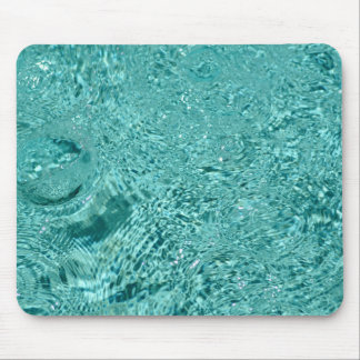 Blue water ripples drops Mousepad