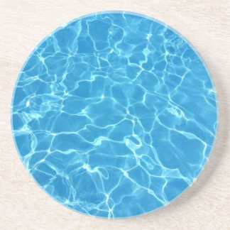 Blue Water Texture Drink Coaster