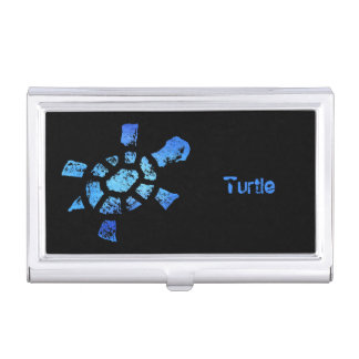 Blue Water Turtle Business Card Holder